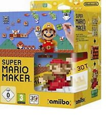 Super Mario Maker (inkl.amiibo 8-Bit Mario Figur+Artbook) Wii U Neu&Ovp Limited