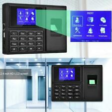 Biometric Work Clocking In Time Attendance Machine Fingerprint Password USB UK