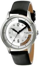 Stuhrling 946L 01 Winchester Quartz Silver Tone Black Leather Womens Watch