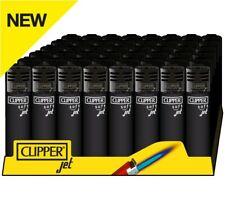 Clipper Original Feuerzeug Jet Flame Soft Touch All Black 1-4 St. Feuerzeuge NEU