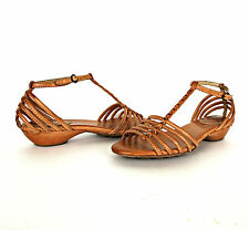 Frye Womens Strappy Leather Sandals 8.5 Naomi Tan Shoes Open Toe Summer Shoes