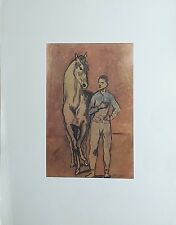 Jeune Homme au Cheval Pablo Picasso (1881) Dessin Rehaussé Imprimé 197 x 270 mm