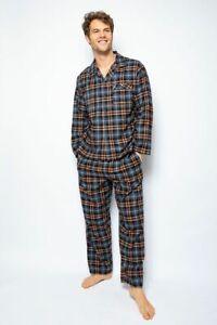Cyberjammies Pyjamas Mens Arthur Brushed Check PJ's Long Sleeve Size M