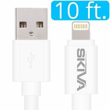 Skiva Apple MFi Certified Lightning to USB Sync & Charge Cable 10Feet Long CB102