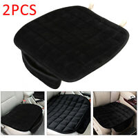 Perfect 2X Auto Car Plush Front Seat Cover Pad Lattice Protector Cushions Mat