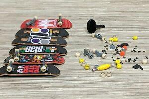 Tech Deck Fingerboard Parts Lot Boards Trucks Wheels Nuts Bolts Skateboard