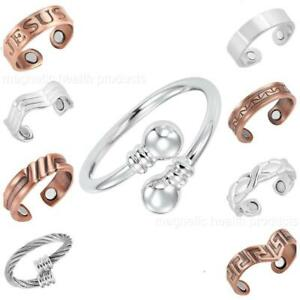 MENS LADIES PURE COPPER MAGNETIC RING CARPAL TUNNEL HEALTH ARTHRITIS PAIN RELIEF