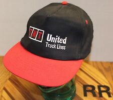 TNT UNITED TRUCK LINES HAT BLACK/RED SNAPBACK GOOD CONDITION RR