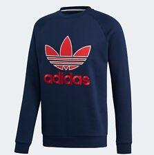 e29101a5 Men's adidas Originals Trefoil Crew Sweatshirt Size Medium #ec3666 Blue