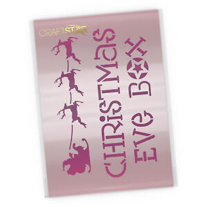 Christmas Eve Box Stencil Template - Reusable Mylar Xmas Craft  DIY Template
