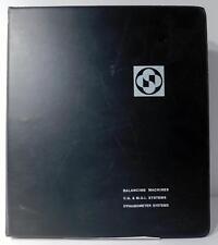 Schenck Trebble Corp Balancing Machines Cg Amp Moi Systems Dynamometer Manual
