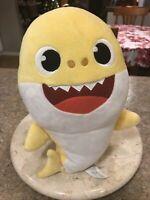"Pinkfong BABY SHARK Singing Plush Yellow Stuffed Animal WowWee Toy USA 12"""