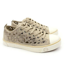UGG Australia Evera Cut Out Sand Suede Sheepskin Sneakers 1005801 US 6 NEW!