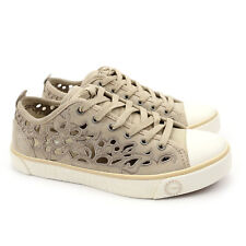 UGG Australia Evera Cut Out Sand Suede Sheepskin Sneakers 1005801 US 5.5 NEW!