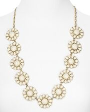 Kate Spade Glossy Garden White Necklace NWT Retro 60's Flower Power! Glass Petal