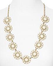 Kate Spade Glossy Garden White Necklace NWT Retro 60's Flower Power! Glass Petal