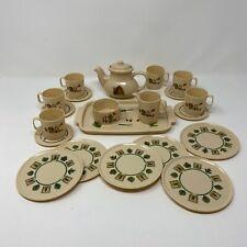 Vintage Tootsie Toy Tea Time Set ~ Plastic Pfaltzgraff