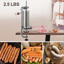 2.5L Vertical Sausage Stuffer Maker Meat Filler Stainless Steel Commercial New