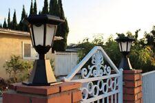 New listing 2-Pack Solar Black Aluminum Die-Cast Hexagon Led Entrance Post Lights-NewArrival