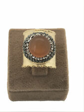 Turkish Handmade Jewelry Tiger Eye Non Allergic Bronze Adjustable Ring - 156