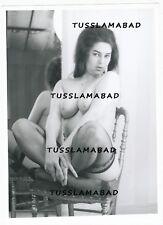 Akt Foto hübsche Frau Pose Nackt Busen auf Agfa Fotografie Model