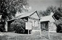 Portage Wisconsin~French Log Cabins @ Fort Winnebago~Surgeon's Quarters~1963 PC