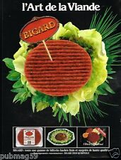 Publicité advertising 1986 Viande Steak Haché Bigard
