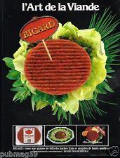 Publicité advertising 1986 Viande Steak Haché Bigard