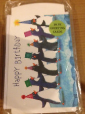 "10 Pack of Greeting Cards, ""Happy Birthday"" Sealed Large Size"