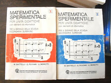 MATEMATICA SPERIMENTALE 1 e 2 con el. informatica Battelli Puviani 1° CPE 1986