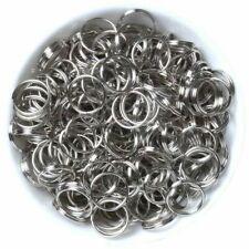 More details for stainless steel 15mm keyring 'split rings' key chain links rhodium