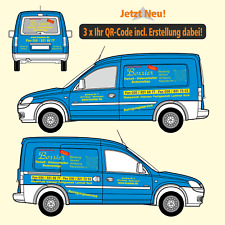 Fahrzeugbeschriftung PKW/Kombi (3 Seiten, 2 Farben), incl. 3 x Ihr QR-Code