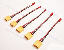 Lot(5) AMASS Male XT60 XT-60 to JST Female Adapter 20AWG 10cm Wire for RC Power