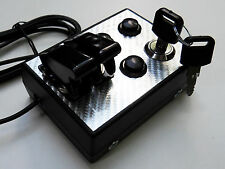 BBJ Sim Racing PC PS4 USB Button Box with Key Black/Silver