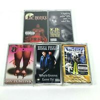 Lot 5 Cassette Tapes Houston TEXAS H-Town Rap 90's Early 2000 Hip Hop Blac Monks