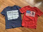 2 Polo Ralph Lauren Shirts American Patriotic July 4th Boys Small EUC