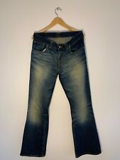 NUDIE JEANS Size W33 L32 Low FLARE GLENN NJ204 Made In Italy