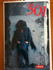 Vintage Levi's Strauss 501 Denim Jeans Advertising Poster--Authentic 1980's