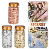 Gold Foil Leaf Flake Epoxy Resin Filling Materials DIY Molds Jewelry Nail Decor