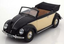 VW BEETLE KAFER 1200 CONVERTIBLE 1949 CREAM BLACK MINICHAMPS 107054131 1/18