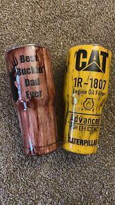 CAT Oil Filter Tumbler 30 oz CURVED