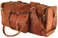 Men's Fair Trade Leather Travel Duffel Weekender Carry On Vintage Luggage Bag