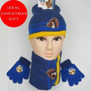 Boys Hat, Scarf Glove Set One-Size Pets  LIMITED TIME OFFER 60% OFF