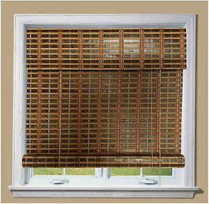 THY COLLECTIBLE Bamboo Roll Up Window Blind Sun Shade, Light Filtering Roller...