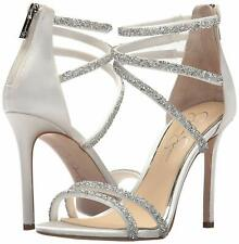 Jessica Simpson Jamalee Ankle Strap Zip up Sandals 594 White 7 US / 37 EU