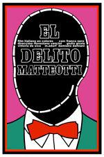 Movie Poster for italian film El Delito Matteotti.Red Bowtie Room art decoration