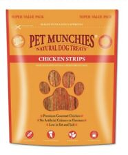 Pet Munchies Chicken Strips 320g X 3 Packs (July Offer) Natural Dog Treat