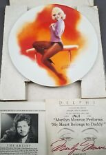 Marilyn Monroe Performs My Heart Belongs To Daddy Bradford Exchange Plate w/ Coa