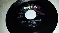 """THE MAJORS Anything You Can Do / What In The World IMPERIAL 5914 SOUL 45 7"""""""