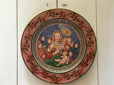 """Rosenthal Versace Limited Ed 2001 """"God Is Born""""  Christmas 30cm Wall Plate & Box"""